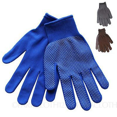 mens Mountain Gear Safety Grip Camping Polka Dotted Palm Gripper Work Gloves