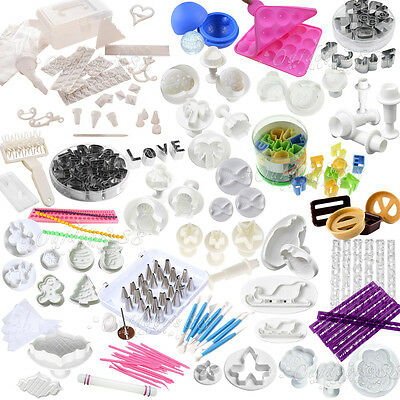 Fondant Sugarcraft Cake Decorating Icing Plunger Cutters Tools Mold Baking Mould