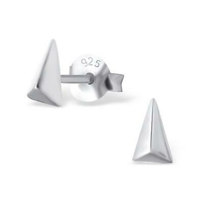 925 Sterling Silver 3D Triangle Stud Earrings / Pyramid / Studs / Earring