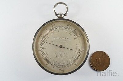 ANTIQUE ENGLISH VICTORIAN PERIOD SILVER ALTIMETER by A JENKINS LONDON c1866