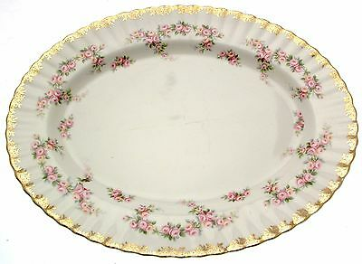 "Royal Albert Dimity Rose 13"" 33cm Ashet Meat Plate  2nds Quality"