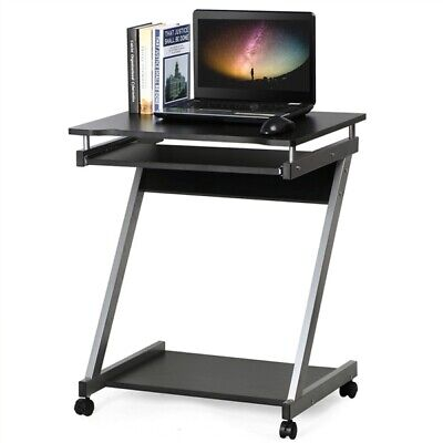 Computer Desk Z-Shaped with Keyboard Shelf Home Office Study PC Table Furniture