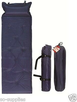 Self Inflating Camping Mat Single Roll Pad Inflatable Bed Sleeping Mattress Bag