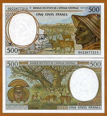 Central African States, Equatorial Guinea, 500 Francs, 2000, P-501Ng, UNC