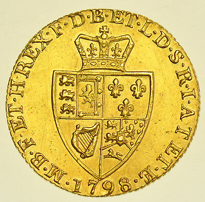 1798 Guinea British Gold Coin From George Iii Ef