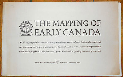 1967 Mapping Early Canada Canadian Antique Maps Reproductions x12 + Text