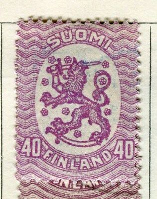 FINLAND;   1917-20s early definitive type fine used 40p. value