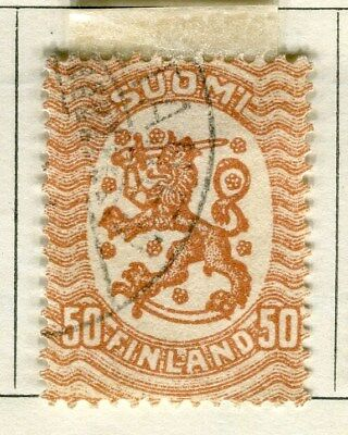 FINLAND;   1917-20s early definitive type fine used 50p. value