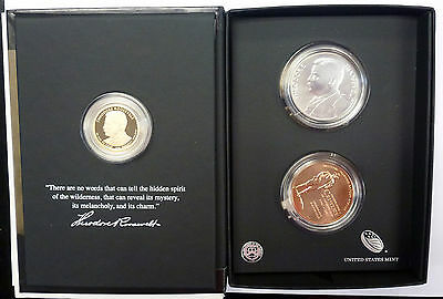 {BJSTAMPS}  2013 Theodore Roosevelt Coin & Chronicles Presidential Dollar Set