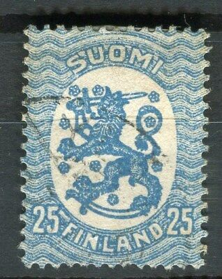 FINLAND;   1917-20s early defintive issue fine used 25p. value