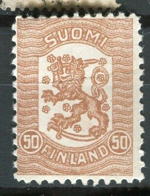 FINLAND;   1918 early definitive type Mint hinged 50k. value