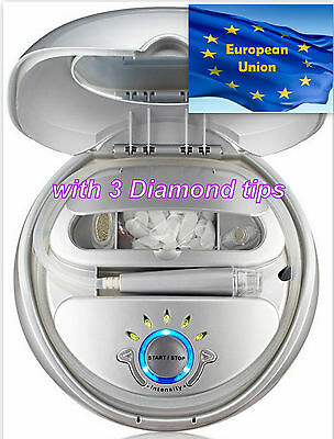 white Microdermabrasion Skin Care NuBrilliance System, with diamond tip 220volt