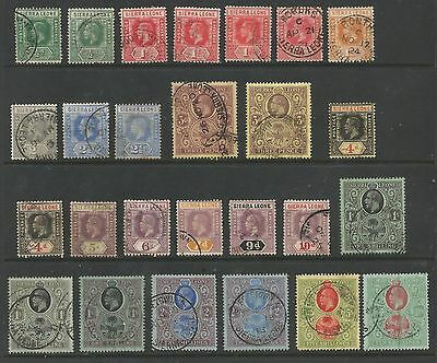 Sierra Leone Sg112-127 The 1912-21 Gv Set To 10/- Inc Some Shades Used C.£317