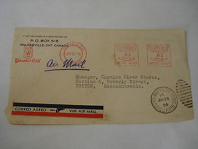 CANADIAN CLUB 1936 meter COVER Front WALKERVILLE ON Windsor Ontario CANADA NICE!