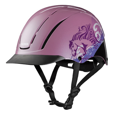 Troxel New Spirit Pink Dreamscape Safety Riding Helmet Low Profile Horse Child