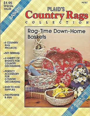 Country Rags Rag-Time Down-Home Baskets Fabric Coiling Plaid Jackie Stephens