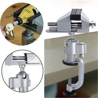 "Table Bench Vise 3"" Work Bench Clamp Swivel Rotated Vice Hobby Craft Repair Tool"