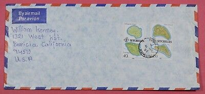 1982 Seychelles Airmail Cover To Usa