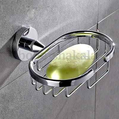 Stainless Steel Wall-Mounted Sink Soap Dispenser Tray Dish Holder Suction Shower