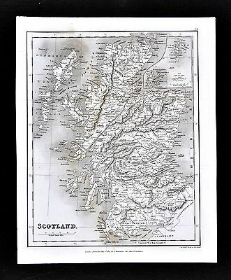 1827 Neele Map - Scotland - Edinboro Glasgow Inverness Loch Ness Orkney Islands