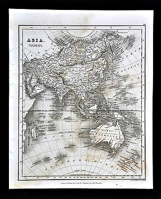 1827 Neele Map - Asia Australia China Japan India New Zealand  Indian Ocean