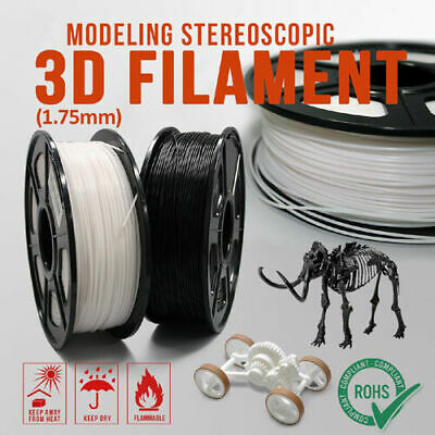 Premium Black & White 3D Printer Filament ABS PLA 1.75mm 1KG/Roll Aussie Stock