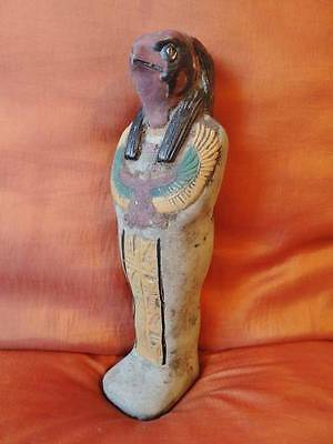 X-Large RARE Stunning Unique Egyptian Statue Ancient Egyptian King Falcon HORUS