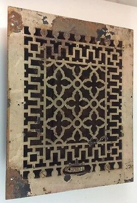 Antique Cast Iron Floor Wall Vent Grate Heat Cover Register