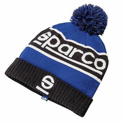 Sparco Windy Winter Rally/Track/Car Navy Blue/Black Beanie Bobble Hat