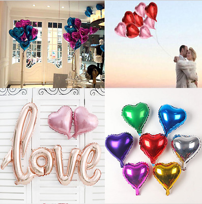 Lot 5PCs Love Heart Foil Helium Balloons Wedding Party Birthday Decor Romantic