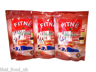 3 X Fitne Herbal Infusion Original Flavour Slimming Tea 20 Teabags Per Pack