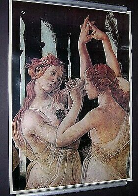 c1970s. LARGE  BOTTICELLI ART POSTER PRINT. APPROX 100 x 70 cms. PAPER