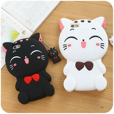 3D Cartoon Animals Silicone Gel Soft Case Cover For iPhone Phone Models