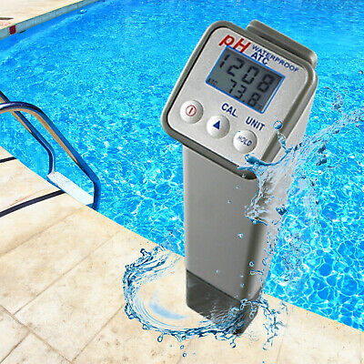 Splashproof Professional Dual Digital PH meter Temperature High Accuracy ±0.05PH