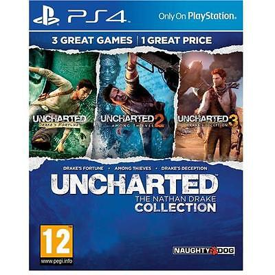 Uncharted The Nathan Drake Collection Game for Sony Playstation 4 PS4 NEW