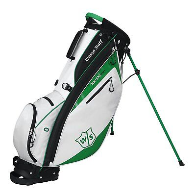 Wilson Staff Ionix Light Stand Bag Golf Carry Trage Bag Black/White/Green
