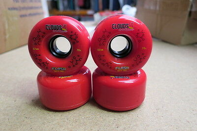 Clouds Urethane Wheels Flash 62MM 78a  RED PACK OF 4