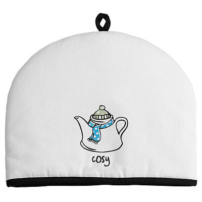 Doodle Tea Cosy Insulated Cotton Novelty Kitchen Teapot Pot Cover Cozy Warmer