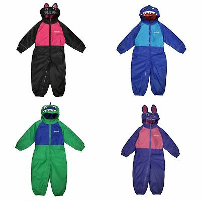 Regatta Great Outdoors Childrens Toddlers Mudplay II Waterproof Rainsuit
