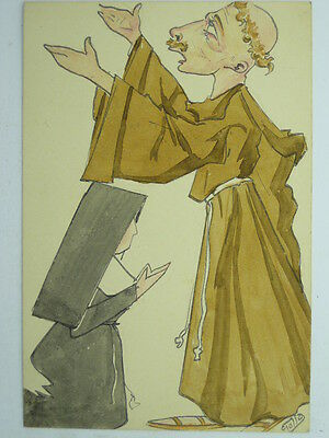 Hand Painted-Artist Signed Golia-Humour-Vh8-S24428