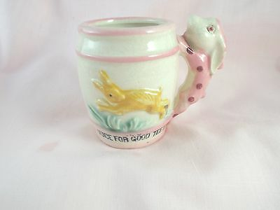 Vintage Baby Child's Juice Cup Sweet Bunny Handle & Design