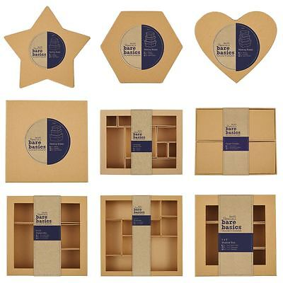 *OFFER* Nesting + Compartment MDF/Cardboard Craft Decor Blank Decoupage Boxes