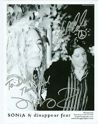 Sonia Rutstein and Disappear Fear signed autograph 8 x 10 photo 2 autographs