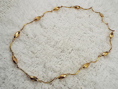 Goldtone Bar Bead Necklace (C37)