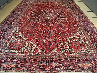Large PERSIAN RUG CARPET Wool HAND MADE Vintage TRADITIONAL ANTIQUE 12ft 5 x 9ft