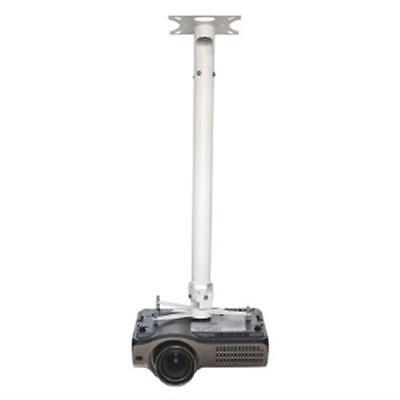 Vision White TM-1200 Ceiling Projector Mount Drop up to 1100mm 1.1m Satin White