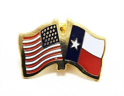 Five (5) Texas and USA Flags Lapel Pins