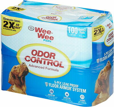 Four Paws Wee Wee Pads 22x23 Inch, Odor Control, 100 Count