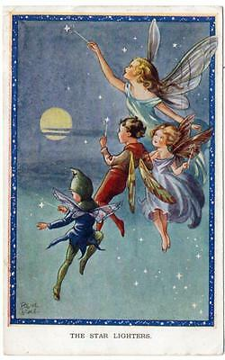 1953 RENE CLOKE The Star Lighters No 3327 Children Postcard