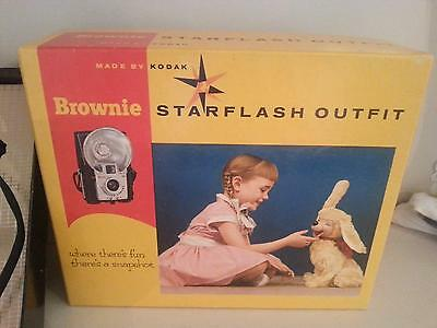 Kodak Brownie Starflash Camera Outfit in Box Excellent - Maybe Unused